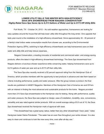 Press Release - Niagara Conservation