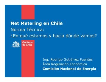 2 - Net Metering en Chile - Rodrigo Gutiérrez Fuentes - América do Sol