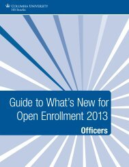 Guide to What's New for Open Enrollment 2013 - Human Resources