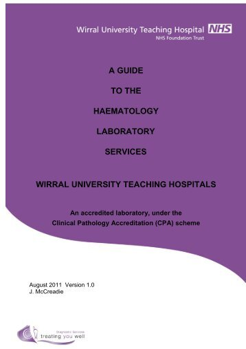 a guide to the haematology laboratory services wirral