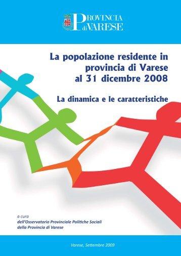 OPS Provincia di Varese, Rapporto demografico 2008.pdf - OsserVa