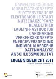 Ergebnisbericht Modellregionenprogramm Phase I 2011