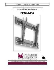 Universal flat-panel mount INSTALLATI ON MANUAL