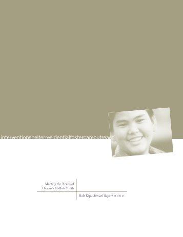 Hale Kipa Annual Report 2002
