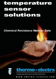Material selection for chemicals (12.69Kb) - Thermo-Electra
