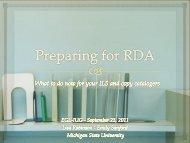 Preparing for RDA