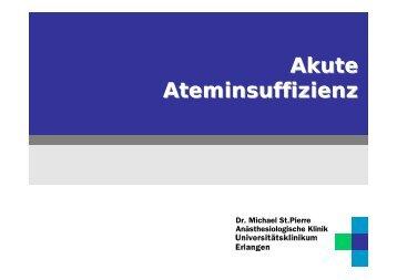 Akute Ateminsuffizienz: Pathophysiologie - Bak-24.de