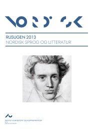 rusugen 2013 nordisk sprog og litteratur - For Studerende - Aarhus ...