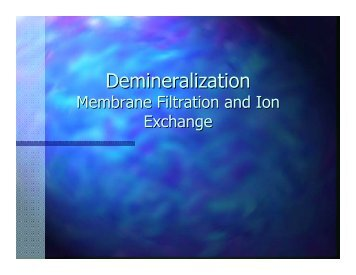 Membrane Filtration And Ion Exchange