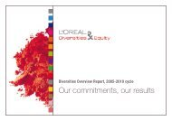 Our commitments, our results