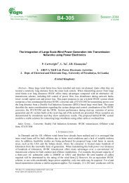 The integration of large scale wind power generation into ...