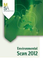 MSA Environmental Scan 2012