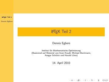 LaTeX Teil 2 - Mathematik