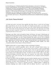 Der Tod des Thomas Bernhard - Passauer Thomas Bernhard Freunde