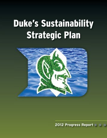 Duke's Sustainability Strategic Plan - Duke Human Resources ...