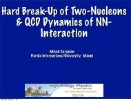 Hard Break-Up of Two Nucleons and the QCD Dynamics of NN ...