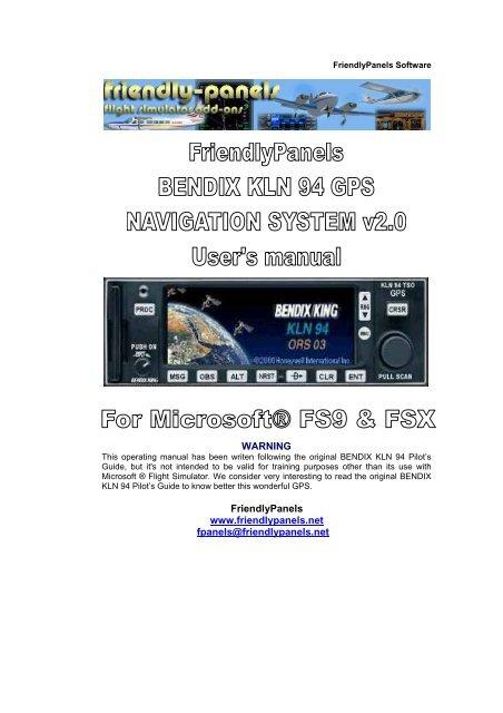 Bendix KLN 94 GPS - FriendlyPanels