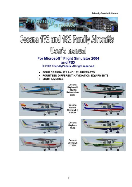 For Microsoft Flight Simulator 2004 And FSX FriendlyPanels