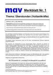 Merkblatt 1 Überstunden Mehrarbeit - Diakonie im Oldenburger Land