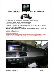 IC-8001: INTERFACE TV MOVIMIENTO BMW E60/61/63 - Novosonic