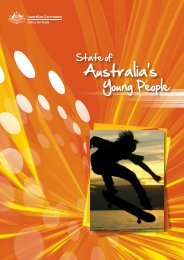 State of Australia's young people: a report on the social, economic ...
