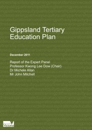 Gippsland Tertiary Education Plan - Department of Education and ...