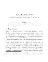 Ideal Resolvability∗ - Graz University of Technology