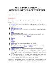 TASK 1: DESCRIPTION OF GENERAL DETAILS OF THE FIRM