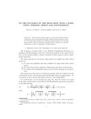 ON THE DYNAMICS OF THE RIGID BODY WITH A FIXED POINT ...