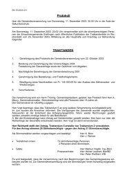 Protokoll TRAKTANDEN - Grellingen