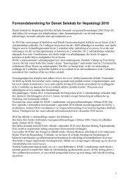 Formandsberetning for Dansk Selskab for Hepatologi 2010 - fra DSGH