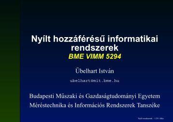 Nyílt hozzáférés ˝u informatikai rendszerek