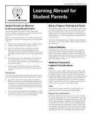 Learning Abroad for Student Parents - Learning Abroad Center ...