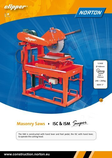 Masonry Saws ISC & ISM - Norton Construction Products