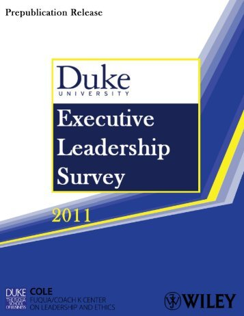 Executive Leadership Survey - Duke University's Fuqua School of ...