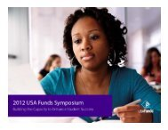 Institutional Strategies For Impacting Student Loan ... - USA Funds