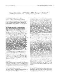 Energy Restriction and Oxidative DNA Damage in Humans1 - CPNC
