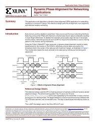 Xilinx XAPP888 MMCM and PLL Dynamic Reconfiguration