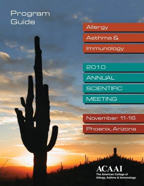 ACAAI 2010 Annual Meeting Program Guide - American College
