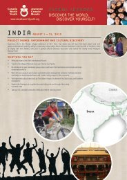 India - Canada World Youth