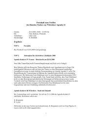 Protokoll Runder Tisch 20.06.00 - Agenda-wuerselen.de