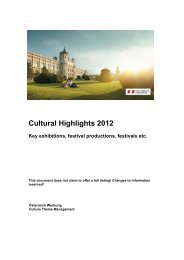 Cultural Highlights 2012 - Newsroom of the Austrian National Tourist ...