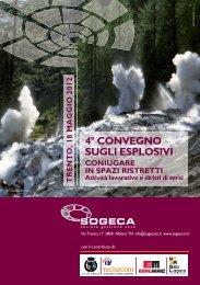 iv° convegno sugli esplosivi 18 maggio 2012 - trento - Geologico