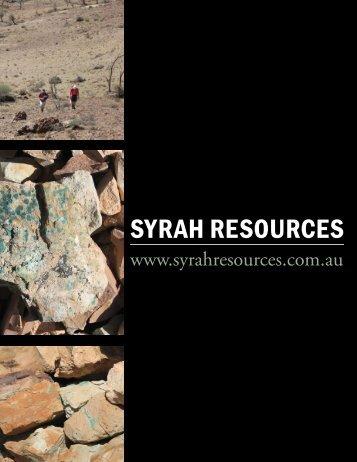 SYRAH RESOURCES - The International Resource Journal