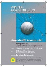 WINTERAKADEMIE als PDF - Zahnärzteblatt Baden-Württemberg