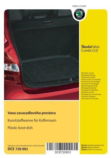 ŠkodaFabia Combi (5J) Vana zavazadlového prostoru ...