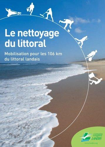 Le nettoyage du littoral - Conseil général des Landes