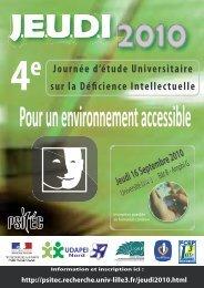 Journée d'étude Universitaire sur la Déficience Intellectuelle - C2RP