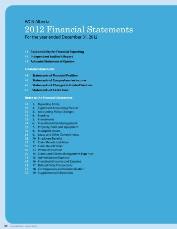 2012 Financial Statements - Workers' Compensation Board