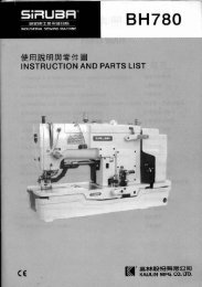 Parts book for Siruba BH780